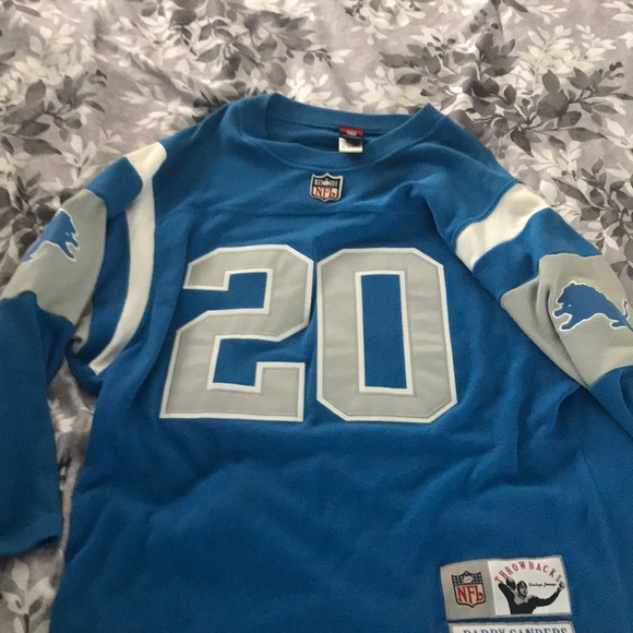 the latest 25aa2 57a69 Barry Sanders gridiron greats throwback jersey